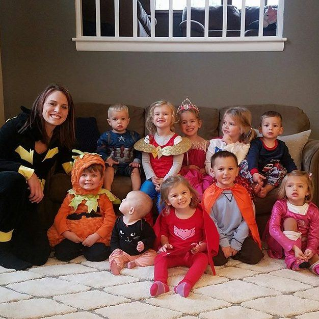 Laura with the kids from her Eagan day care